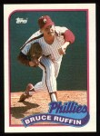 1989 Topps #518  Bruce Ruffin  Front Thumbnail