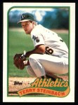 1989 Topps #725  Terry Steinbach  Front Thumbnail