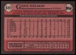 1989 Topps #581  Gene Nelson  Back Thumbnail