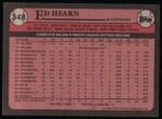 1989 Topps #348  Ed Hearn  Back Thumbnail