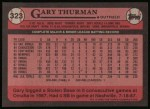 1989 Topps #323  Gary Thurman  Back Thumbnail