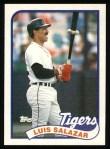 1989 Topps #553  Luis Salazar  Front Thumbnail