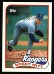 1989 Topps #548  Bobby Witt  Front Thumbnail