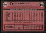 1989 Topps #655  Dave Magadan  Back Thumbnail