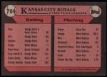 1989 Topps #789   -  Bo Jackson Royals Team Back Thumbnail