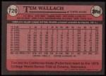 1989 Topps #720  Tim Wallach  Back Thumbnail