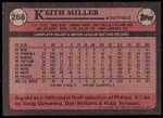 1989 Topps #268  Keith Miller  Back Thumbnail