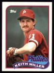 1989 Topps #268  Keith Miller  Front Thumbnail