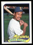 1989 Topps #781  Greg Briley  Front Thumbnail