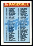 1989 Topps #524   Checklist 397-528 Front Thumbnail