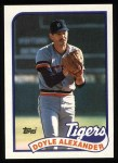 1989 Topps #77  Doyle Alexander  Front Thumbnail