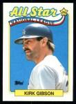 1989 Topps #396   -  Kirk Gibson All-Star Front Thumbnail