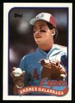 1989 Topps #590  Andres Galarraga  Front Thumbnail
