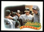 1989 Topps #639   -  Walt Weiss Athletics Leaders Front Thumbnail