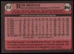 1989 Topps #52  Bob Brenly  Back Thumbnail