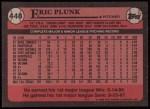 1989 Topps #448  Eric Plunk  Back Thumbnail