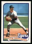 1989 Topps #342  Tom Brookens  Front Thumbnail