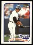 1989 Topps #320  Lou Whitaker  Front Thumbnail