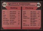 1989 Topps #459   -  Dave Valle Mariners Leaders Back Thumbnail