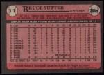 1989 Topps #11  Bruce Sutter  Back Thumbnail