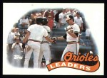 1989 Topps #381   -  Larry Sheets Orioles Leaders Front Thumbnail