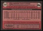1989 Topps #187  Darren Daulton  Back Thumbnail