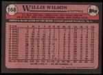 1989 Topps #168  Willie Wilson  Back Thumbnail