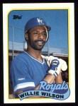 1989 Topps #168  Willie Wilson  Front Thumbnail