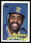 1989 Topps #687  Alvin Davis  Front Thumbnail