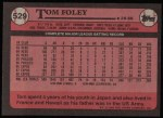 1989 Topps #529  Tom Foley  Back Thumbnail