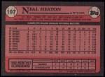 1989 Topps #197  Neal Heaton  Back Thumbnail
