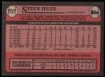 1989 Topps #707  Steve Jeltz  Back Thumbnail