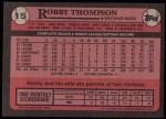 1989 Topps #15  Robby Thompson  Back Thumbnail