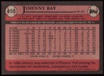 1989 Topps #455  Johnny Ray  Back Thumbnail