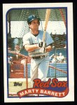 1989 Topps #155  Marty Barrett  Front Thumbnail
