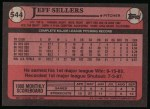1989 Topps #544  Jeff Sellers  Back Thumbnail