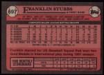 1989 Topps #697  Franklin Stubbs  Back Thumbnail