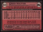 1989 Topps #623  Fred Toliver  Back Thumbnail