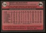 1989 Topps #736  Jeff Hamilton  Back Thumbnail