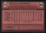 1989 Topps #306  Tracy Woodson  Back Thumbnail