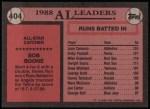 1989 Topps #404   -  Bob Boone All-Star Back Thumbnail