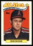 1989 Topps #404   -  Bob Boone All-Star Front Thumbnail