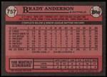 1989 Topps #757  Brady Anderson  Back Thumbnail