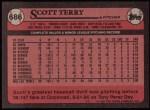 1989 Topps #686  Scott Terry  Back Thumbnail