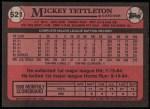 1989 Topps #521  Mickey Tettleton  Back Thumbnail