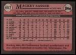 1989 Topps #457  Mackey Sasser  Back Thumbnail