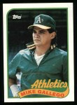 1989 Topps #102  Mike Gallego  Front Thumbnail