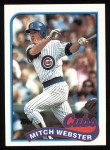 1989 Topps #36  Mitch Webster  Front Thumbnail