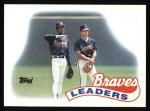 1989 Topps #171   -  Andres Thomas Braves Leaders Front Thumbnail