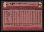 1989 Topps #413  Mike Kingery  Back Thumbnail
